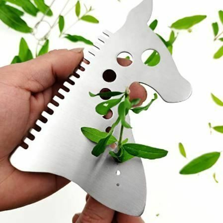 Kale stripper: Leaf Herb Stripper with Cleaning Brushes