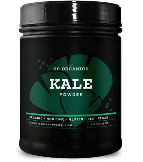 kale powder: SB Organics Kale Powder